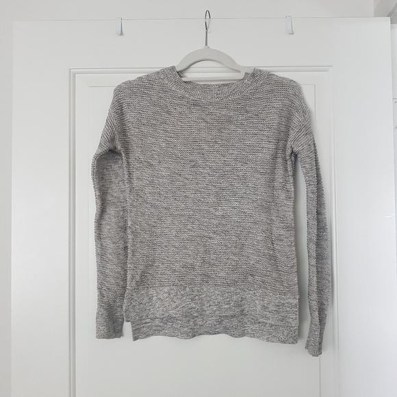 LOFT Grey Knit Sweater XXSP